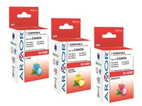 Pack de 3 cartouches ARMOR compatible avec Canon CLI526 couleurs