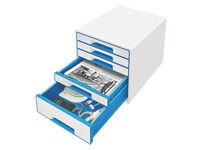 Classifying module Leitz Wow 5 drawers white - blue