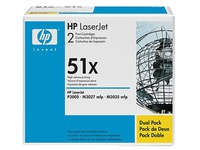 Q7551XD HP LJ P3005 CARTRIDGE (2) BLK HC (1492398)