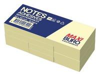 Herkleefbare notes geel Maxiburo formaat 40 x 50 mm