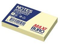 Herkleefbare notes geel Maxiburo formaat 50 x 75 mm