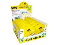 Pack de 10 + 2 rollers de colle permanent Dry & Clean Uhu - Longueur 8,5 m
