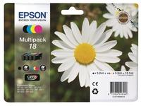 Epson 18 Multipack - 4 - zwart, geel, cyaan, magenta - origineel - inktcartridge (C13T18064012)