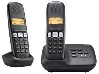 Pack Duo Telefoon met antwoordapparaat Siemens Gigaset A250A - zwart