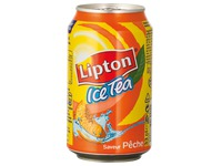 Pack of 24 cans Lipton Ice Tea peach 33 cl