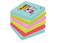 Notes couleurs Miami Super Sticky Post-it 76 x 76 mm - Bloc de 90 feuilles