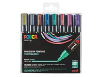 Marker Posca assorted metallic colours conical point 1.8 to 2.5 mm - Box of 8