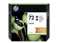 HP 72 - 2 - hoge capaciteit - dof zwart - origineel - inktcartridge (P2V33A)