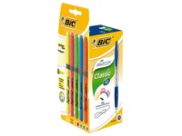 Pack de 12 stylos bille Bic Atlantis Soft + 5 surligneurs Highlighter Grip assortis offerts