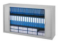 Low tambour cabinet dismountlable specific width H 100 x W 180 cm
