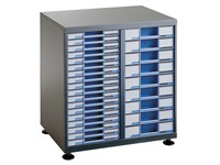 Clen filing cabinet 2 columns anthracite