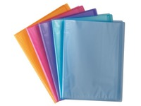 Document protection 20 sleeves transparent Elba polypropylene A4 assorted colors - 20 sleeves
