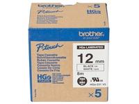 Brother HGE231V5 - gelamineerde tape - 5 rol(len)