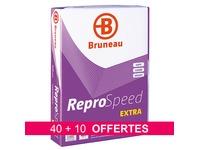 Pack 40 + 10 riemen papier Bruneau Reprospeed Extra - A4 - wit 80g - 500 vellen