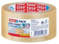 Tesa verpakkingsplakband Extra Strong, ft 50 mm x 66 m, PVC, transparant