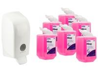 Pack 6 zeepvullingen Kleenex + 1 gratis verdeler