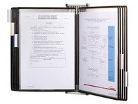 Rotational document holder with wall attachment Tarifold PVC A4 10 sleeves - 20 sights - black color