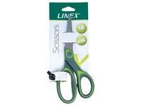 Linex schaar 17,5 cm, groen, op blister