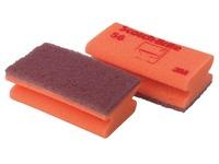 Scotch Brite schuurspons voor delicate oppervlakken, ft 7 x 13 cm, rood, pak met 10 stuks