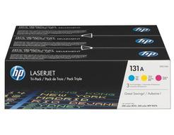 HP 131A - 3 - geel, cyaan, magenta - origineel - LaserJet - tonercartridge ( U0SL1AM )