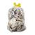 huisvuil doorzichtig transparant plastic zak vuilniszak stroplint linten afval doorschijnende vuilzak hengsel