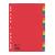 plastiek tabladen alfabetische tussenbladen tussenbladen met gekleurde tabs